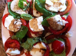 Tomatoes,Basil & Mozzarella Salad