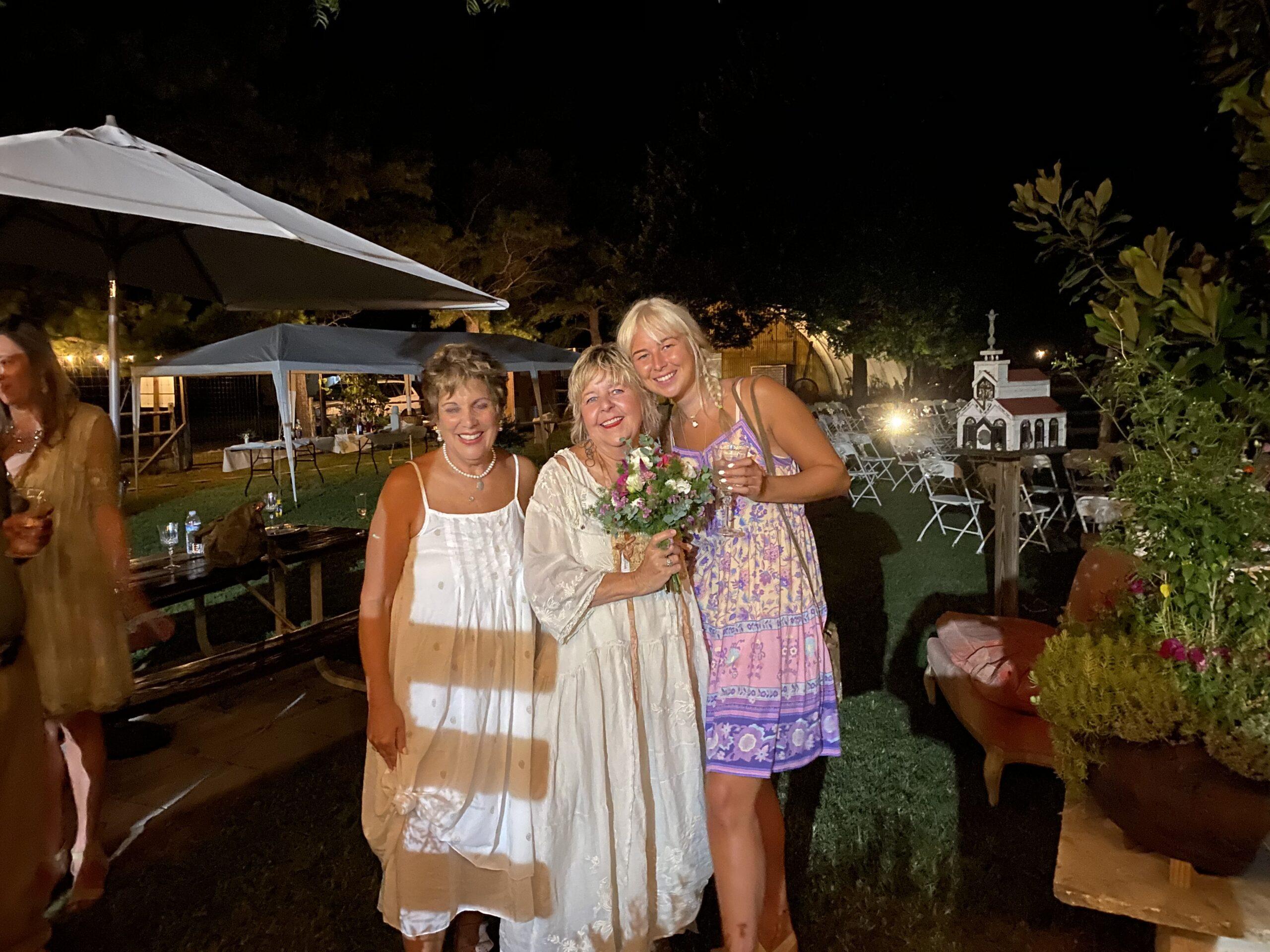 Linda and friends at Wedding Celebration